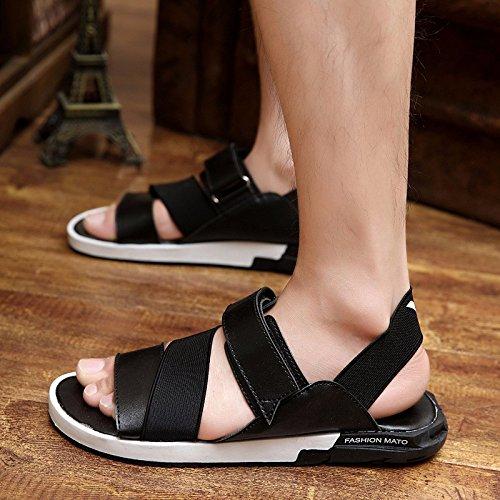 Il nuovo primavera Uomini sandali sandali tendenza scarpa tendenza Tempo libero Uomini scarpa ,nero,US=9.5,UK=9,EU=43 1/3,CN=45