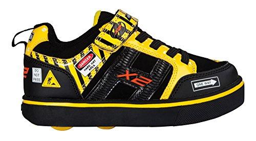 Heelys X2 Bolt, Zapatillas Unisex Niños Varios colores (Black /     Yellow Caution)