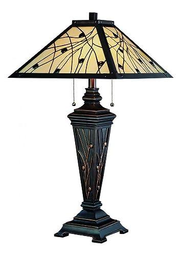 Amazon.com: Lámpara de mesa de bronce oscuro, 2 unidades ...