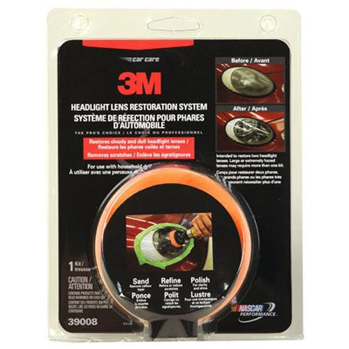 3M 39008 Headlight Lens Restoration System (Headlight Restore Buffing Kit compare prices)