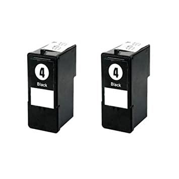 2 cartuchos reciclados ECS Nº 4, cartuchos de tinta negra ...