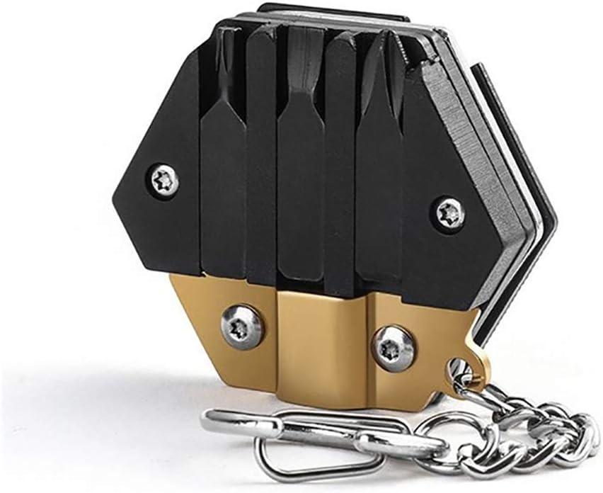 basku Strumento portachiavi,Coltello portatile esagonale,Strumenti di manutenzione