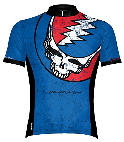 Primal Wear Grateful Dead Steal Your Face Lightning Skull Cycling Jersey Men's XL