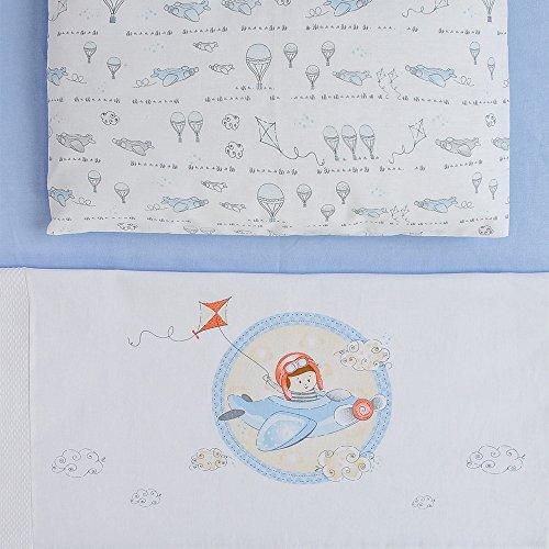 Jogo De Berço Baby 03 Peças, Papi Textil, Azul, Americano