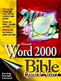 Microsoft Word 2000 Bible, Brent Heslop and David F. Angell, 0764532812