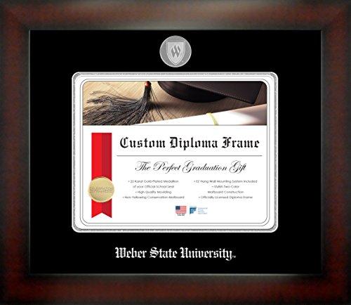 Weber State University 8½ x 11 Mahogany Finish Infinity Diploma Frame by Celebration Frames by Celebration Frames