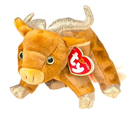 641681c25cf Image Unavailable. Image not available for. Color  TY Beanie Baby - THE OX Chinese  Zodiac