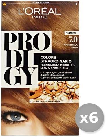 Loreal Set 6 Prodigy 7.0 Almendra Rubio Productos para Cabello Multicolor Único