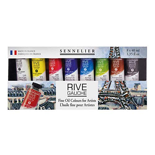Sennelier Rive Gauche Fine Oil Color for Artists, 8 Colors,...