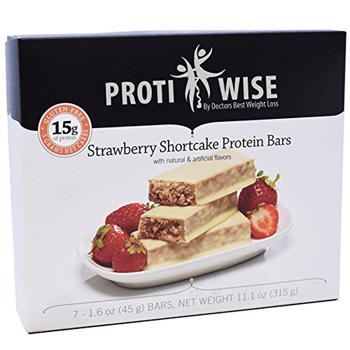 ProtiWise - 15g High Protein Weight Loss Bars for Any Diet (Strawberry Shortcake) | Low Calorie, Low Fat, Low Sugar (7/Box)