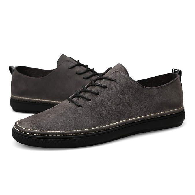 Calzado Pisos Zapato Primavera Cuero Suave Cómodos Casual Hombres bvg76fyYI