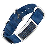Willis Judd Blue Bracelet with Blue Carbon Fiber and a Nato Strap Clasp