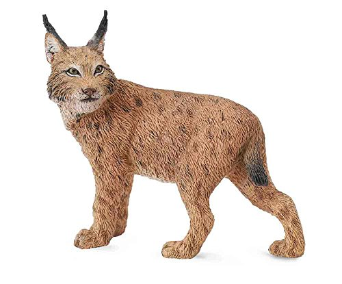 CollectA Wildlife Lynx Toy Figure - Authentic Hand Painted