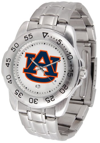 Auburn Tigers Sport Watch (Auburn Tigers Men's Sport ''Game Day Steel'' Watch)