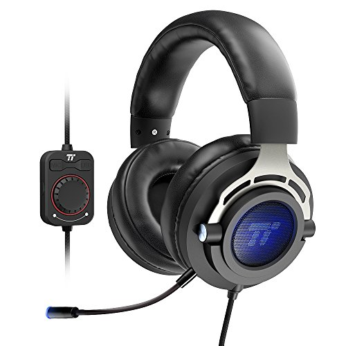 - TaoTronics USB Gaming Headset, Over Ear Headphones with True 7.1 Surround Sound for PC and Mac (LED Light, Soft Memory Foam Earpads, Volume Control, and Mic)
