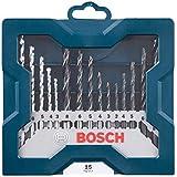 Kit de Brocas para Concreto, Metal e Madeira Bosch Mini X-Line 3,0-8,0mm com 15 unidades