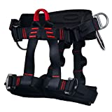Climbing Harness - Ingenuity Professional Mountaineering Rock Climbing Harness,Rappelling Safety Harness - Work Safety Belt