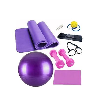 Gym Ball De-Gym Sport Tension Hex HaltèRes Avec Boule De Yoga 4/set LNAG