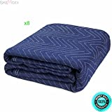 SKEMIDEX---Lot of 8 Padded Moving Blanket Heavy Duty Furniture Moving Pads Protection 65LB And moving blankets for sale near me moving pads lowes best moving blankets moving blankets uhaul moving