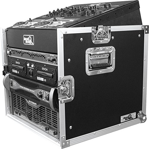 Road Ready RRM8U 10U Slant Mixer Rack/8U Vertical Rack System
