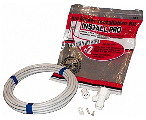 5 Piece, 1/8'' ID Under Sink Water Supply Ice Maker Kit, 1/4'' Tube by Value Collection