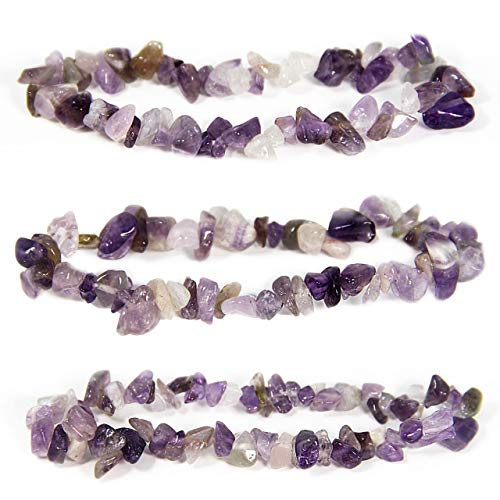 Bravelets Gemstone Stretch Bracelet. Inspirational or Get Well Soon Gifts for Women. Natural Healing Crystals. Purple for Alzheimers, Dementia, Lupus, Epilepsy, Pancreatic Cancer Awareness and More!