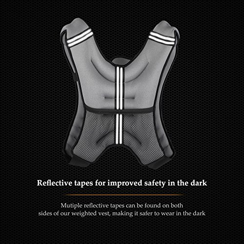 Fitness ZELUS Weighted Vest 20lbs.// 12lbs Strength Training Weight Loss Weightlifting Weight Vest with Reflective Stripe for Workout Running Muscle Building