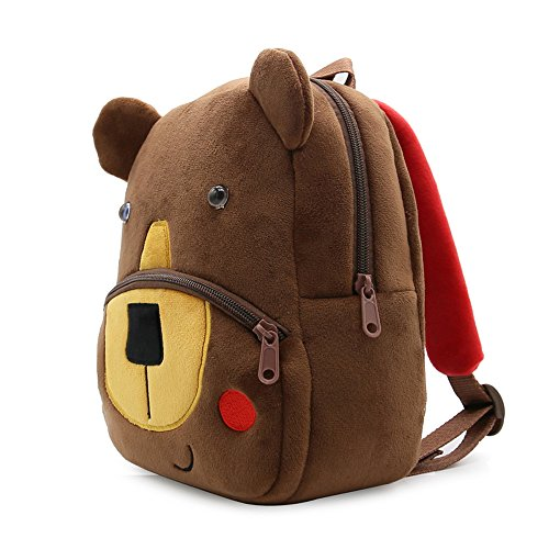 (MSOO Textured Children Baby Girls Boys Kids Cute Cartoon Animal Backpack Toddler School Bag (K))