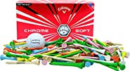"Callaway Chrome Soft 1 dozen + 100 2 3/4"" imprinted Golf Tees Set"