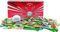 "Callaway Chrome Soft 1 dozen + 100 2 3/4"" imprinted Golf Tees Set"
