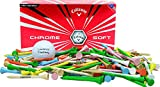 Callaway Chrome Soft 1 dozen + 100 2 3/4'' imprinted Golf Tees Set