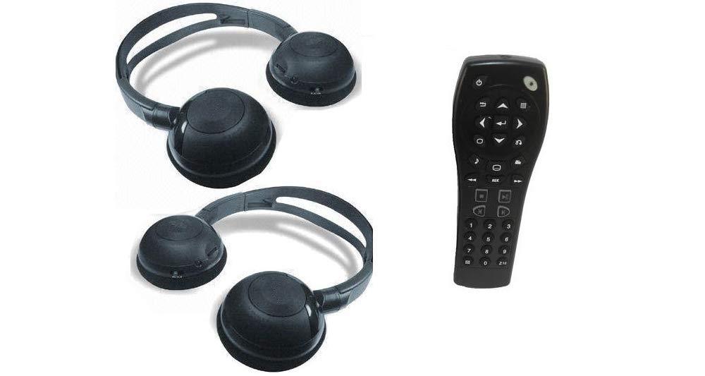 2 GM Compatible Headphones & Remote for Chevrolet Suburban, GMC Yukon, Cadillac Escalade, Uplander, Tahoe, Acadia, Buick Enclave, Chevy Equinox, Silverado, Traverse by AV2GO