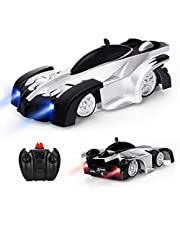 Baztoy Remote Control Kids Wall Climbing Dual Modes 360°Rotation Stunt Zero Gravity RC Cars Vehicles Toys Children Games Funny Gifts Cool Gadgets for Boys Girls Teenagers Adults, Black