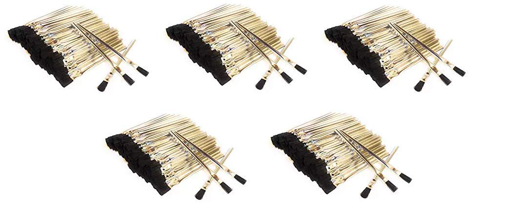 Acid Brushes (General-Purpose, Flux, Craft), 3/8'', Horsehair, 144 Pieces, Made in USA (Fivе Расk)