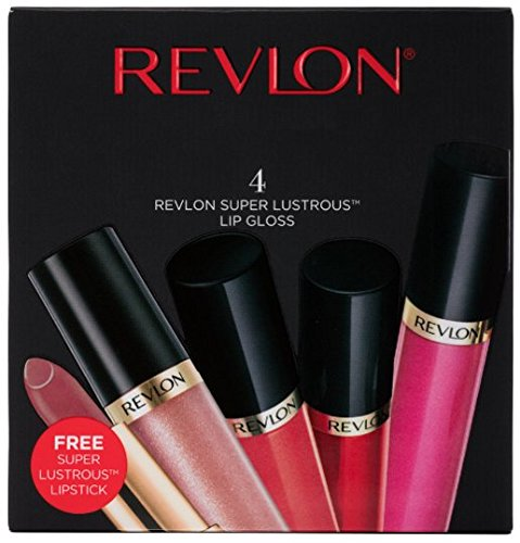 - Revlon Super Lustrous Lip Gloss, 5 Piece Lip Kit Gift Set (Snow Pink, Pango Peach, Fatal Apple, Pinkissimo + 1 FREE Super Lustrous Lipstick