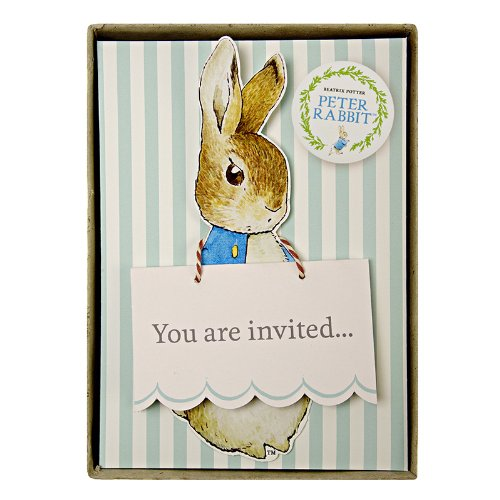 Meri Meri Party Invitations, Peter Rabbit - Boxed (Easter Birthday Party Invitations)