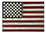 36'' Rustic Metallic Proud To Be An American Flag Wall Decoration