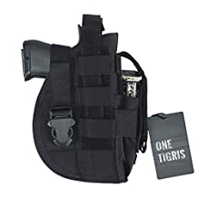 OneTigris Tactical Molle Pistol Holster with Mag Pouch for Right Handed Shooters Fits Glock 1911 45 92 96 New Design Version