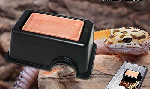 Frjjthchy Reptile Hide Cave Box Lizards Hideout Caves Hideaway for Small Animal Black by Frjjthchy (Image #1)