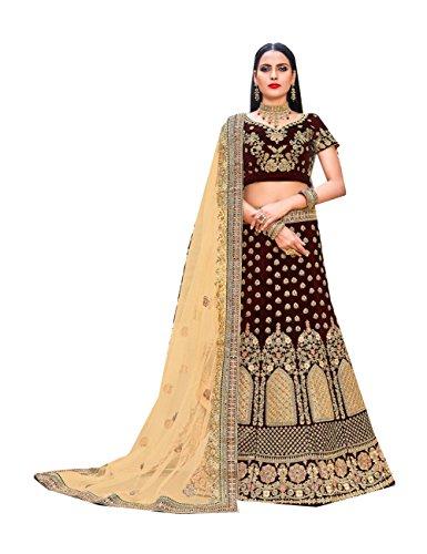 Da Facioun Indian Women Designer Partywear Ethnic Traditional Lehenga Choli. Da Facioun Femmes Indiennes Concepteur Choli Lehenga Traditionnels Ethniques Partywear. Maroon 1 Marron 1