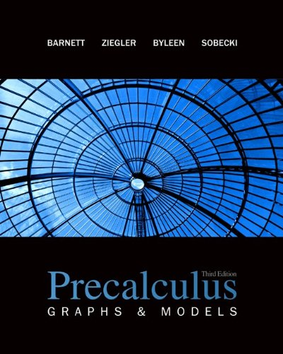 Precalculus: Graphs & Models with Student Solutions Manual (Math Pre Calculus 12 Textbook Mcgraw Hill)