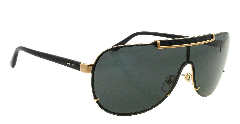 aac6c60c44e Amazon.com  Versace Men s Ve2140 Black Gold Sunglasses 40mm 100287  Clothing