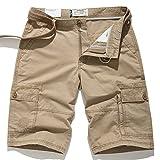 Barry picks Men's Bag Shorts Loose Large Size Men's Casual Pants Trousers,7708 Khaki,31 Waist 2 Feet 37