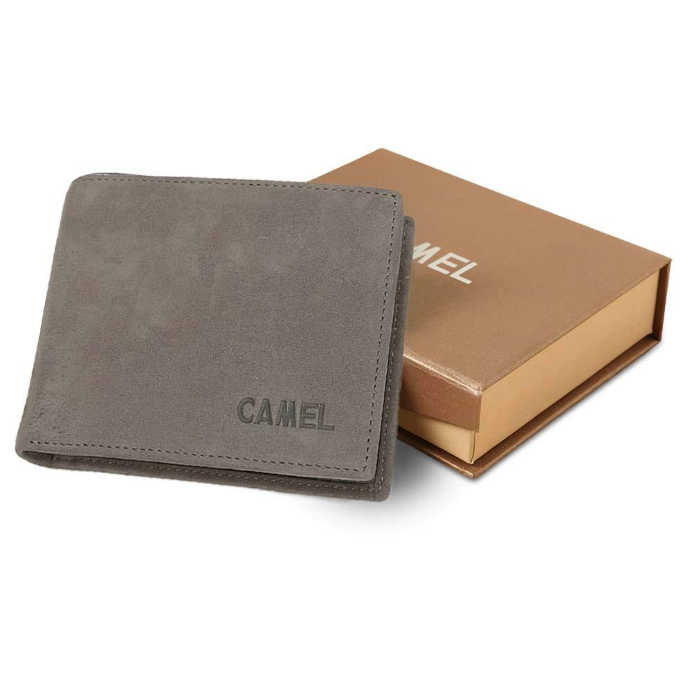 Men RFID Blocking Wallets, Genuine Leather Bifold Purse Money Clips Card Cases