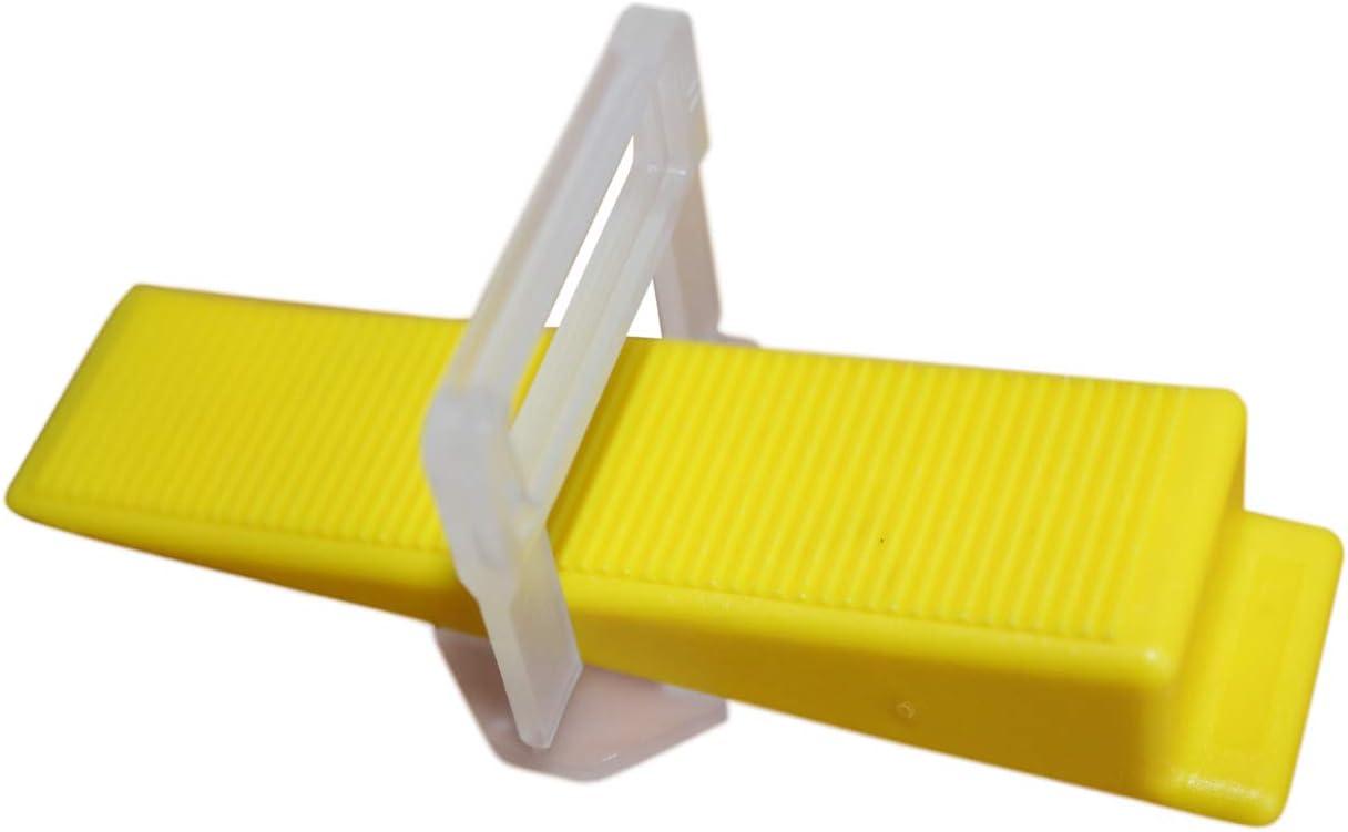 Fliesen Nivelliersystem Verlegehilfe PROFI Maxi Set f/ür 1,5 mm Fuge 1.500 Laschen 300 Keile Metallzange kompatibel