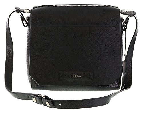 Furla PATTY Pebbled Leather Shoulder Hand Bag in Onyx (001) by Furla