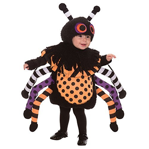This Guy Costumes Baby's Spider, Black/Orange/Purple, 18-24 Months -