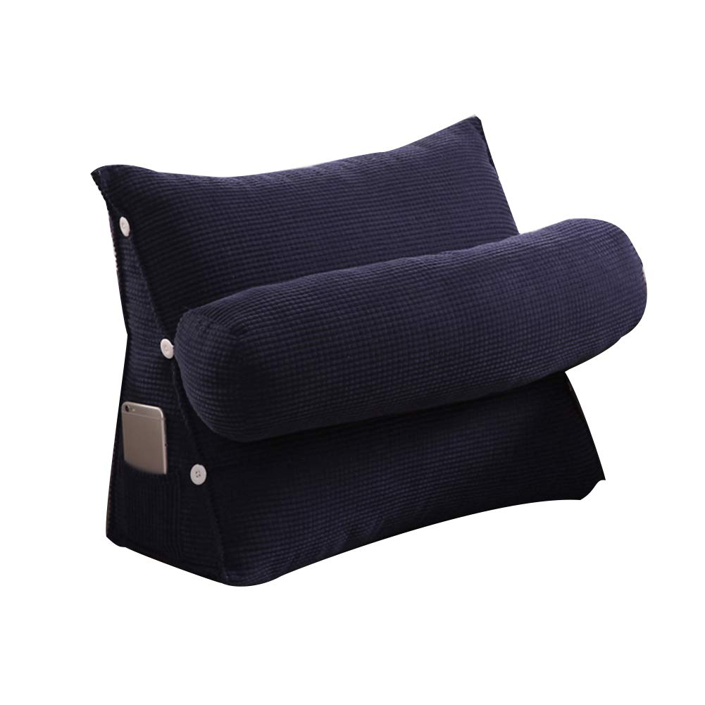 PENGFEI Bedside Cushions Single Soft Cushion Bed Back Office Decompression Comfort Pillow Washable Adjustable, 10 Colors, 2 Sizes