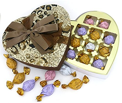 Godiva chocolate ELEGANT FABRIC HEART, with Gift box, Great for mom, or grandma.