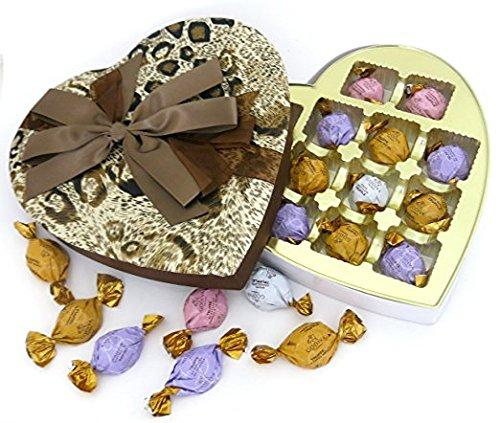 Godiva chocolate ELEGANT FABRIC HEART, with Gift box, Great for mom, or grandma.